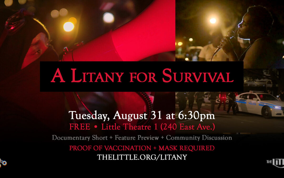 """""""A Litany for Survival"""" Screening + Q&A – August 31, 2021"""